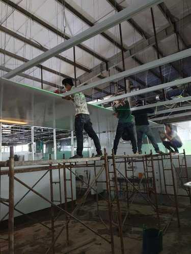 thi công trần nhựa công nghiệp